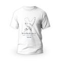 Rozmiar L - koszulka męska z własnym nadrukiem dla taty - dla Wędkarza - biała