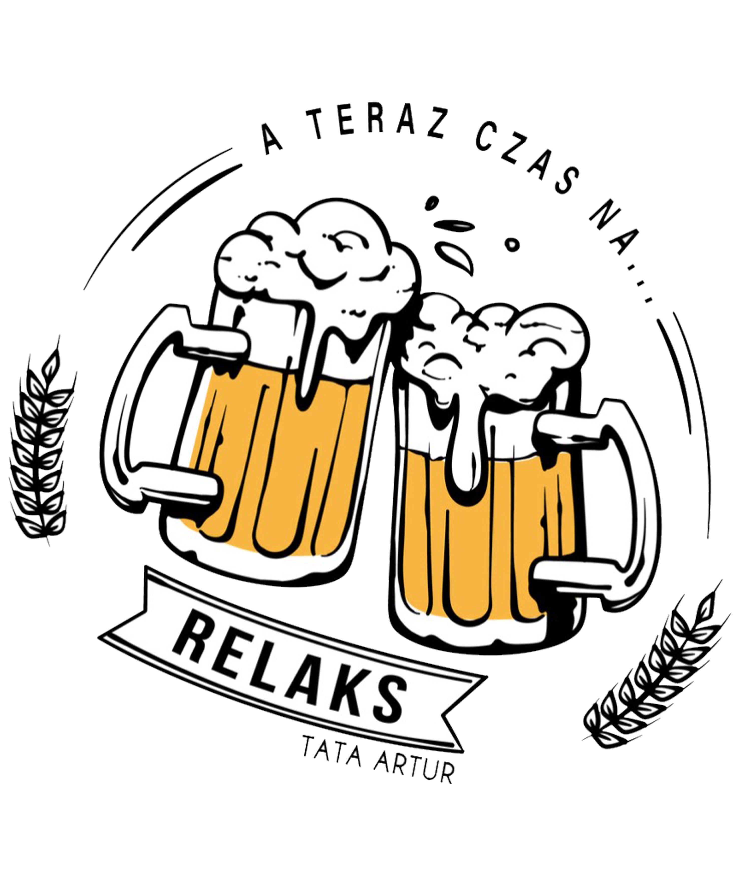 Rozmiar L - koszulka męska z własnym nadrukiem dla taty - miłośnik piwa