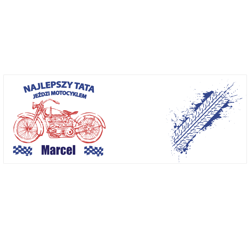 Kubek personalizowany z okazji Dnia Ojca najlepszy tata jeździ motocyklem