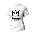 Rozmiar L - koszulka damska z własnym nadrukiem - Queen - biała