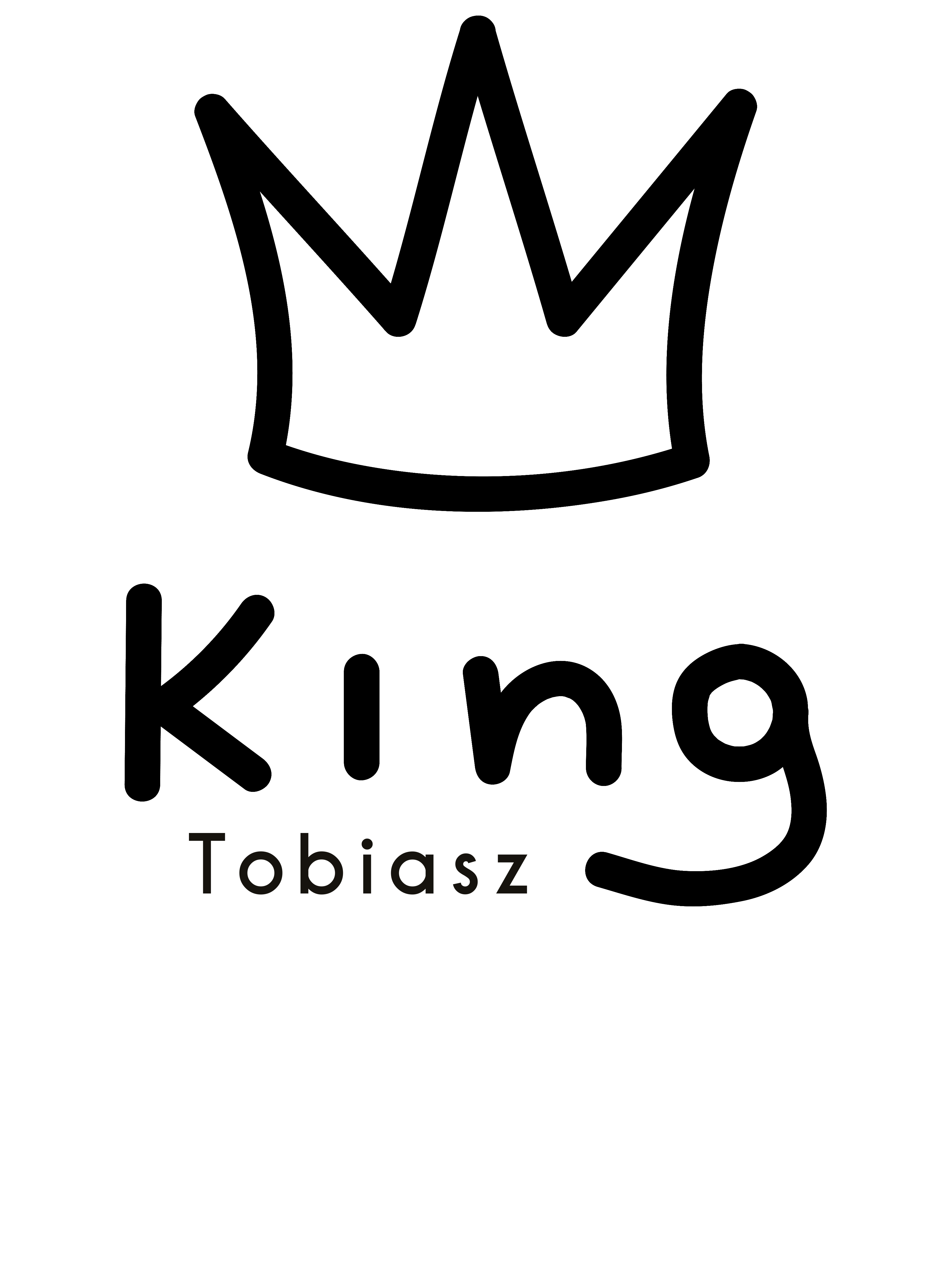 Rozmiar M - koszulka męska z własnym nadrukiem - King - biała