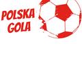 Rozmiar M - koszulka męska z własnym nadrukiem - Euro Polska Gola - biała