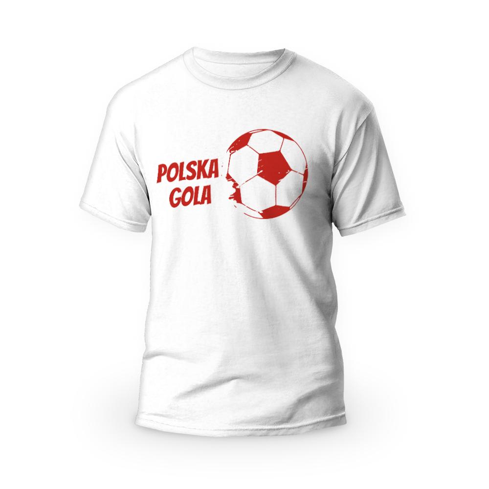 Rozmiar S - koszulka męska z własnym nadrukiem - Euro Polska Gola
