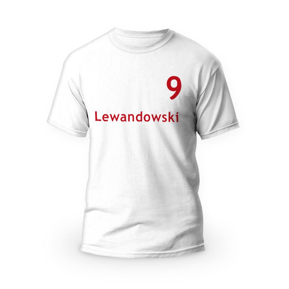 Rozmiar S - koszulka męska z własnym nadrukiem - Personalizowana imieniem/nazwiskiem - biała