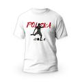 Rozmiar XL - koszulka męska z własnym nadrukiem dla kibica - Euro Polska Gola - biała