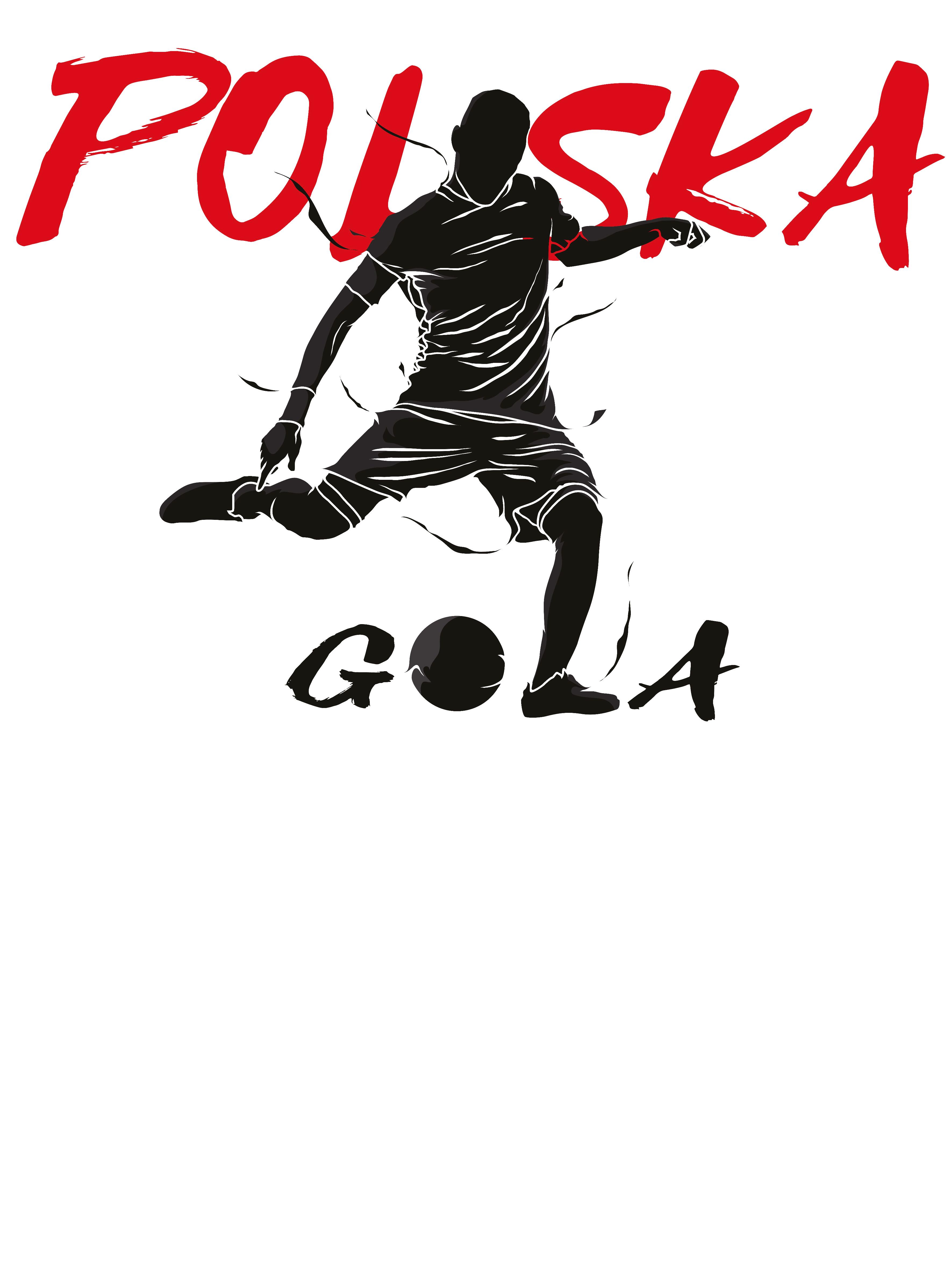 Rozmiar L - koszulka męska z własnym nadrukiem dla kibica - Euro Polska Gola - biała