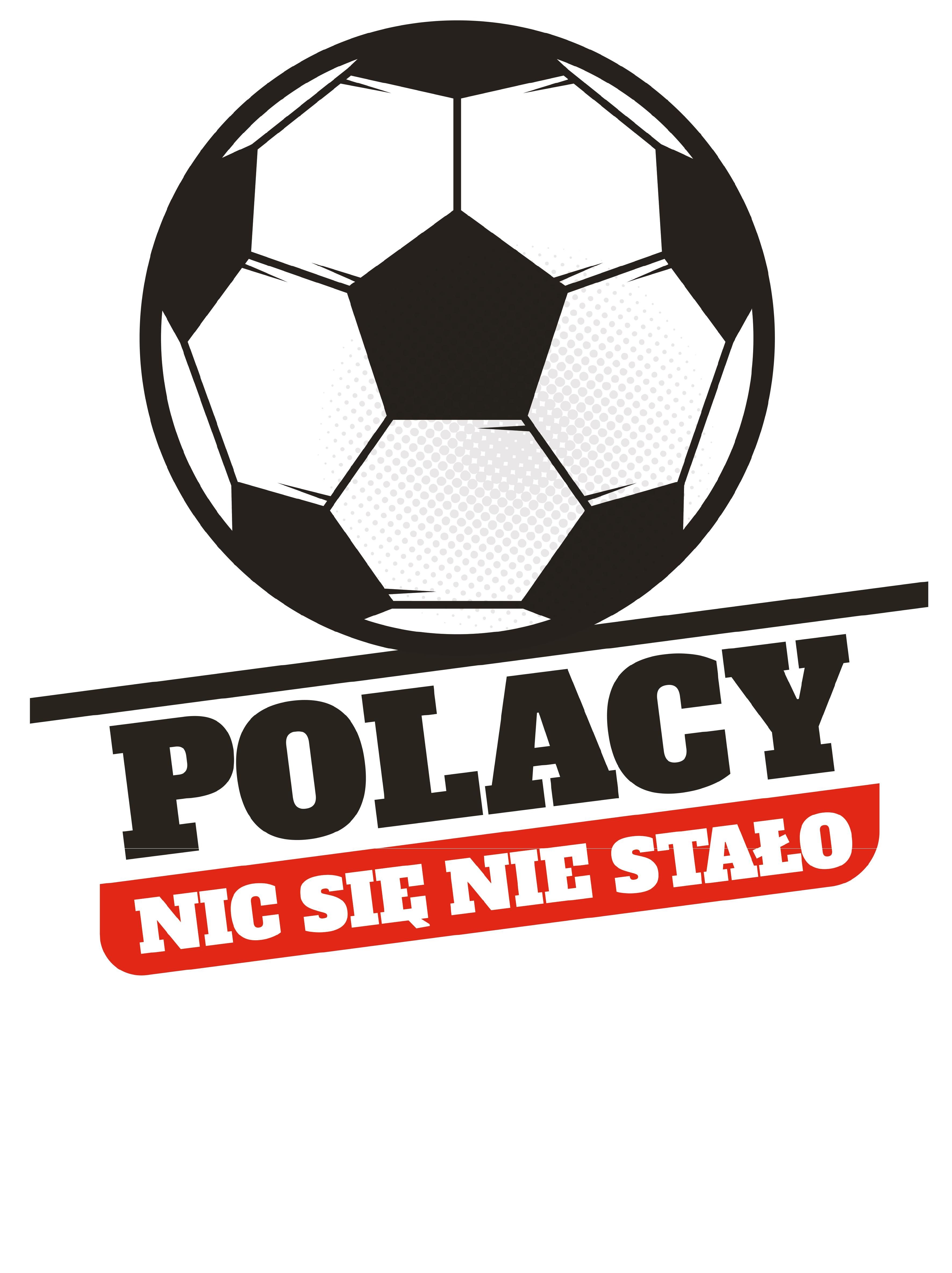Rozmiar M - koszulka męska z własnym nadrukiem dla kibica - Polacy nic się nie stało - biała