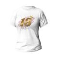 Rozmiar XL - koszulka damska z własnym nadrukiem na urodziny - 18 osiemnastka - biała