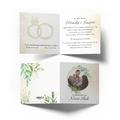 Zaproszenia ślubne na ślub ze zdjęciem rustykalne zielone liście