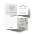 Zaproszenia ślubne na ślub geometryczne rustykalne liście zielone złote