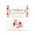 Bileciki podziękowania dla gości weselnych z tekstem 25 sztuk pastelowy różany motyw