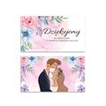 Bileciki podziękowania dla gości weselnych z tekstem 25 sztuk kwiatowe zabawne