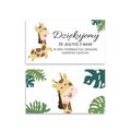 Bileciki podziękowania dla gości roczek 1 urodziny dziecka z tekstem 25 sztuk kolorowe zwierzęta