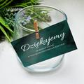 Bileciki podziękowania dla gości weselnych z tekstem 25 sztuk butelkowa zieleń