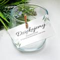 Bileciki podziękowania dla gości weselnych z tekstem 25 sztuk kwiatowe glamour