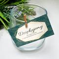 Bileciki podziękowania dla gości weselnych z tekstem 25 sztuk geometryczne złote glamour butelkowa zieleń