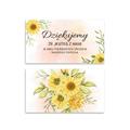 Bileciki podziękowania dla gości roczek 1 urodziny dziecka z tekstem 25 sztuk kwiatowe słoneczniki
