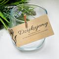 Bileciki podziękowania dla gości weselnych z tekstem 25 sztuk eko natura