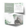 Kartka na ślub wesele ślubna z życzeniami rustykalna para młoda