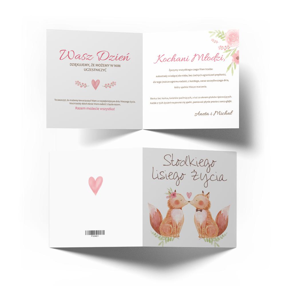 Kartka na ślub wesele ślubna z życzeniami zabawna śmieszna