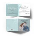 Kartka na ślub wesele ślubna z życzeniami kwiatowa młoda para