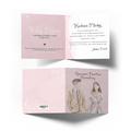 Kartka na ślub wesele ślubna z życzeniami kwiatowa różowa młoda para