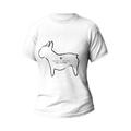 Rozmiar XL - koszulka damska dla miłośników buldożków z buldogiem francuskim - biała