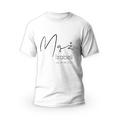 Rozmiar S - koszulka męska z własnym nadrukiem dla męża - biała