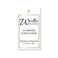 Zawieszki na alkohol wódkę weselną z imionami własny tekst minimalistyczne złote glamour