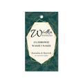 Zawieszki na alkohol wódkę weselną z imionami własny tekst geometryczne złote glamour butelkowa zieleń