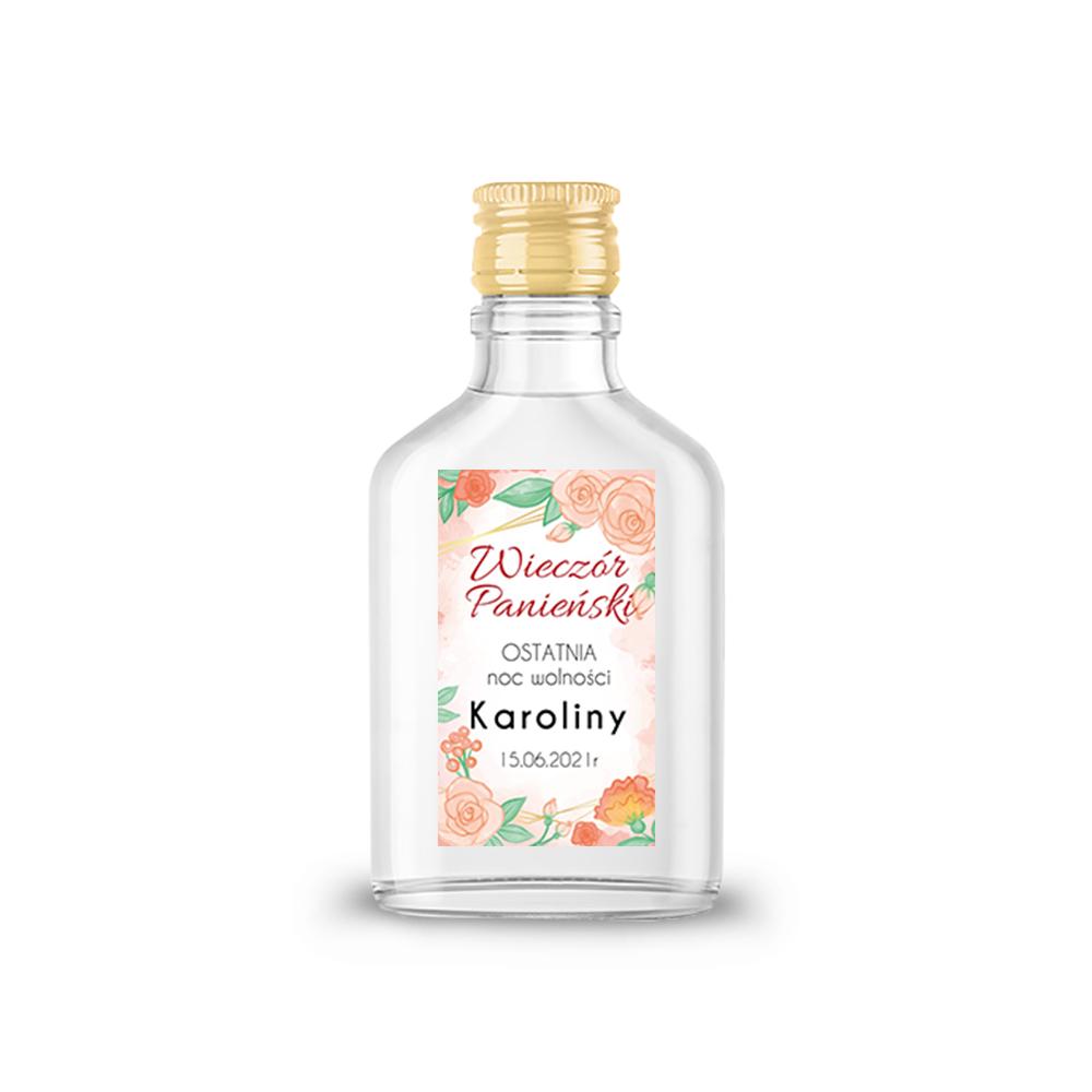 Naklejki etykiety samoprzylepne personalizowane na nalewki bimber alkohol wódkę wieczór panieński w stylu boho