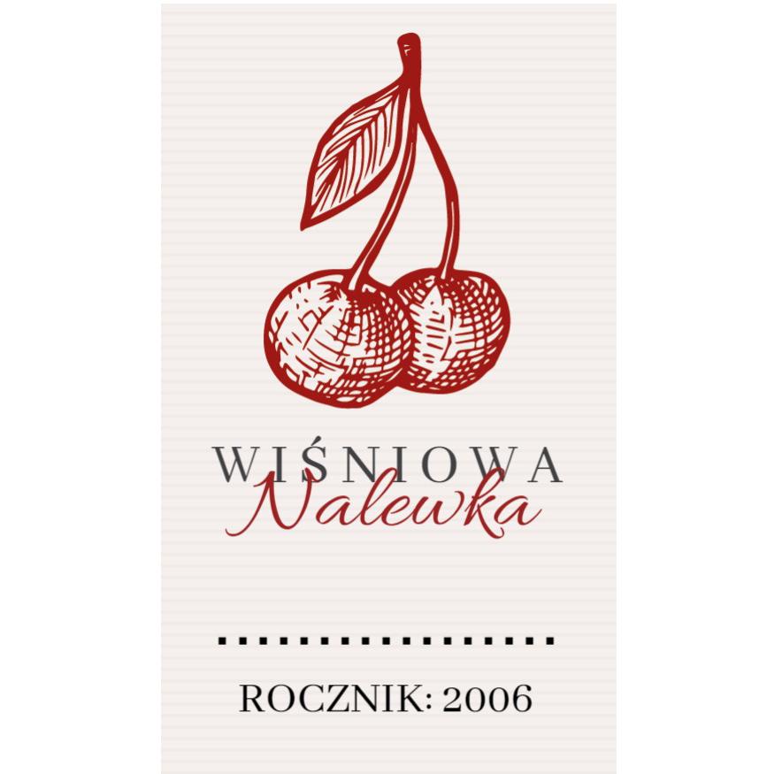 Naklejki na nalewki etykiety samoprzylepne personalizowane bimer alkohol wódkę nalewka z wiśni