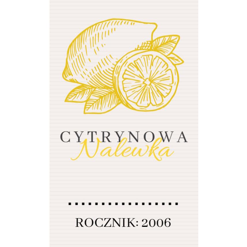 Naklejki na nalewki etykiety samoprzylepne personalizowane bimer alkohol wódkę cytrynówka