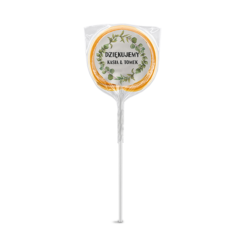 Naklejki na lizaki etykiety samoprzylepne na ślub z imionami podziękowania dla gości botaniczne