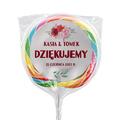 Naklejki na lizaki etykiety samoprzylepne na ślub z imionami podziękowania dla gości kwiatowe róże
