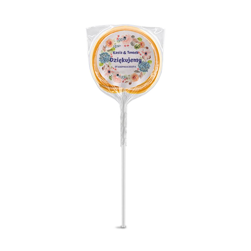 Naklejki na lizaki etykiety samoprzylepne na ślub z imionami podziękowania dla gości boho pastelowe