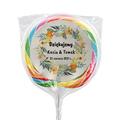 Naklejki na lizaki etykiety samoprzylepne na ślub z imionami podziękowania dla gości kwiaty boho