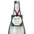 Zawieszki na alkohol wódkę weselną kwadratowe z imionami własny tekst geometryczne złote glamour butelkowa zieleń