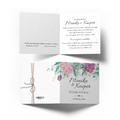 Zaproszenia ślubne na ślub kwiatowe rustykalne