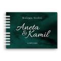 Księga Gości weselnych personalizowana ślub wesele 80 stron A4+ butelkowa zieleń