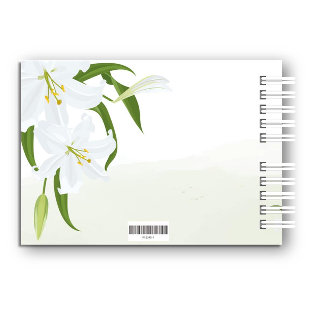 Księga Gości na komunię personalizowana pamiątka komunijna 80 stron A4+ kwiatowa