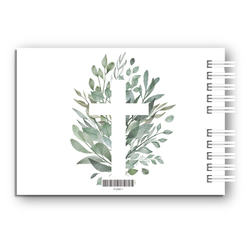 Księga Gości na chrzest chrzciny personalizowana 80 stron A4+ rustykalne krzyż