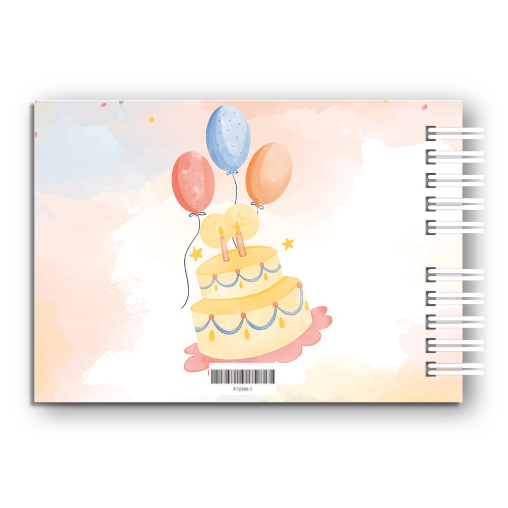 Księga Pamiątkowa Gości na urodziny roczek dla dziecka personalizowana 80 stron A4+ pastelowe misie