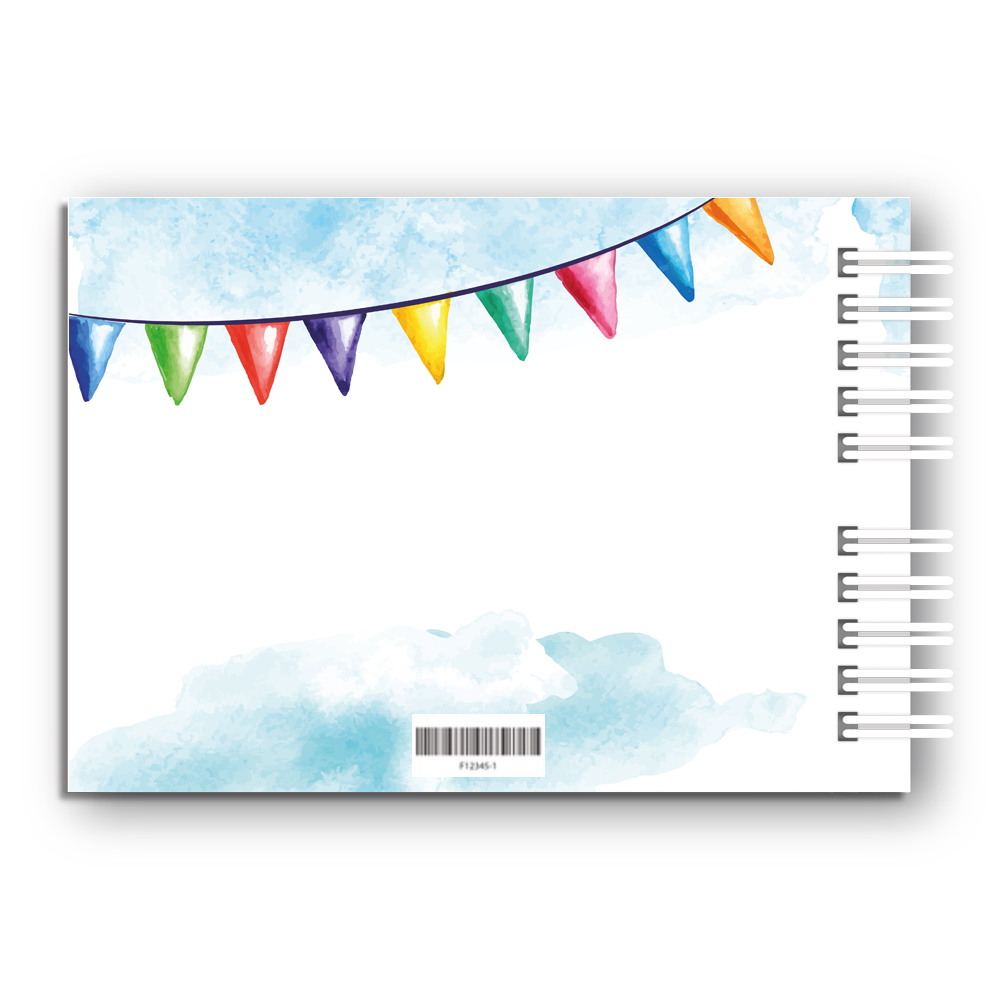 Księga Pamiątkowa Gości na urodziny roczek dla chłopca personalizowana 80 stron A4+ niebieski miś