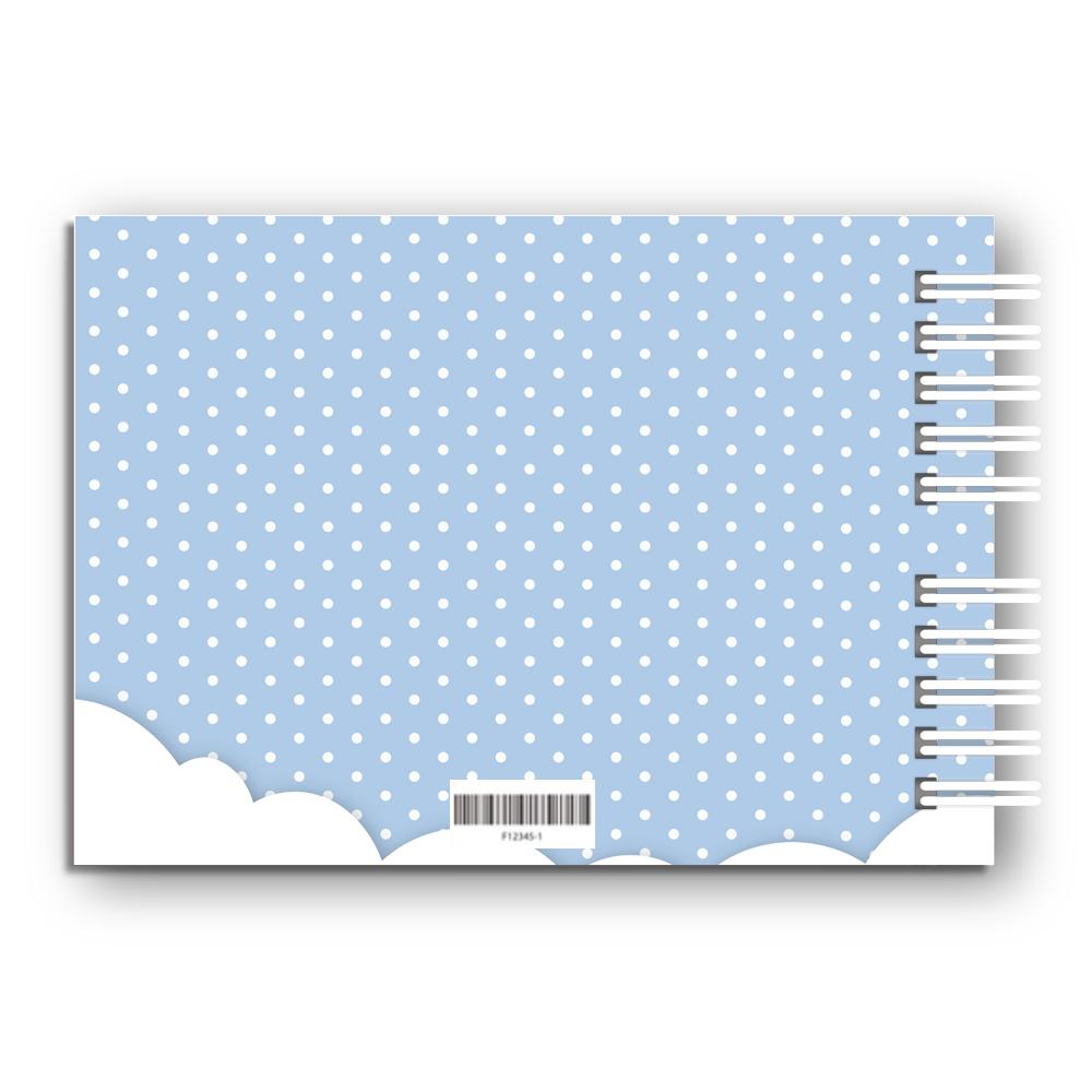 Księga Pamiątkowa Gości na urodziny roczek dla chłopca personalizowana 80 stron A4+ niebieskie kropeczki ze zdjęciem