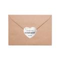Naklejki serce na podziękowanie ślubne wesele imiona geometryczne serce marmur złote glamour