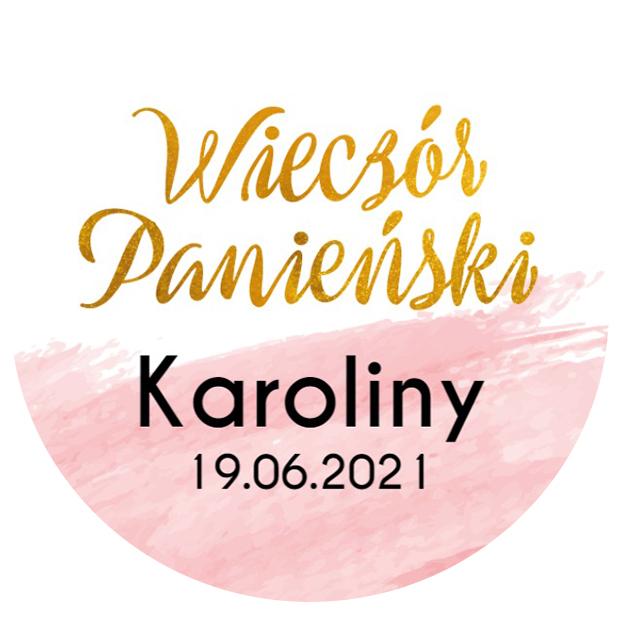 Naklejki dekoracyjne wieczór panieński okrągłe ozdobne podziękowania złote różowe glamour