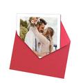 fotoMagnesy Polaroid + koperty czerwone 8 sztuk