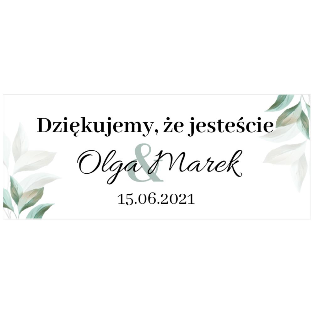 Naklejki etykiety na słoiczki z miodem ślub wesele podziękowanie dla gości rustykalne botaniczne krzyż