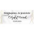 Naklejki etykiety na słoiczki z miodem ślub wesele podziękowanie dla gości geometryczne złote glamour